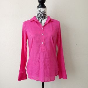 J. Crew Pink Button Up Top Size 4